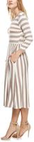 Taupe Stripe Pocket A-Line Dress