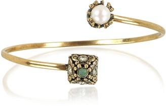 Alcozer & J Pyramid and Pearl Bracelet w/Gemstones