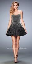 La Femme Midnight Pearl Sweetheart Prom Dress