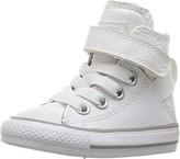 Converse Girls CTAS HI Sneaker (Infant/Toddler), White, 7 M US Toddler