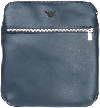 Emporio Armani White Suede Crossbody Bags