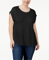 Celebrity Pink Trendy Plus Size Cuffed T-Shirt