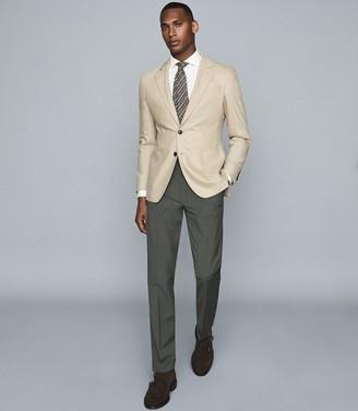 Reiss Flint - Slim Fit Trousers in Green