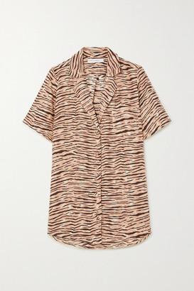 Faithfull The Brand Net Sustain Charlita Tiger-print Linen Shirt - Taupe