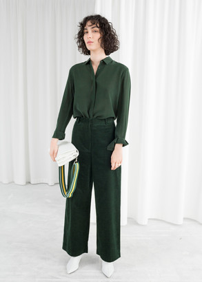 And other stories High Waist Wide Corduroy Pants