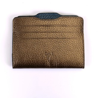 Atelier Hiva Double Card Holder Metallic Brown & Metallic Navy
