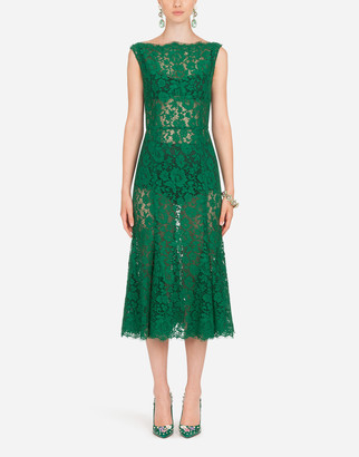 Dolce & Gabbana Lace Godet Midi Dress