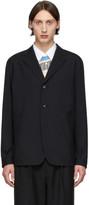 Comme des Garcons Homme Homme Black Tropical Wool Three-Button Blazer