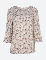 Fat Face Bella Trailing Poppies Blouse