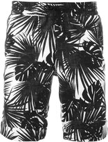Hydrogen palm print shorts - men - Cotton/Linen/Flax - 32