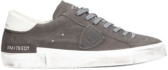 Philippe Model Prsx L Sneakers In Grey Leather