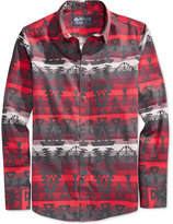 American Rag Men's Aztec-Print Long-Sleeve Shirt, Only at Macy's