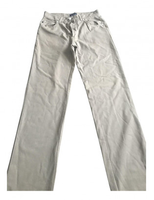 Trussardi Jeans Beige Polyester Trousers