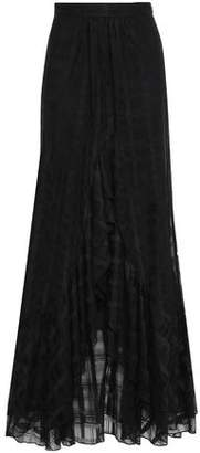 Just Cavalli Checked Lace Maxi Skirt
