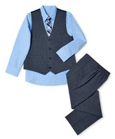 Wonder Nation Boys 4-14 & Husky Suit Set with Vest , Button-up Shirt, Tie, and Pants, 4-Piece Outfit Set