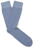 Corgi Ribbed Cotton-Blend Socks
