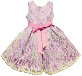 Joe Ella Marlee Lace Overlay Sash Dress (Little Girls & Big Girls)