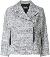Karl Lagerfeld bouclé tweed biker jacket