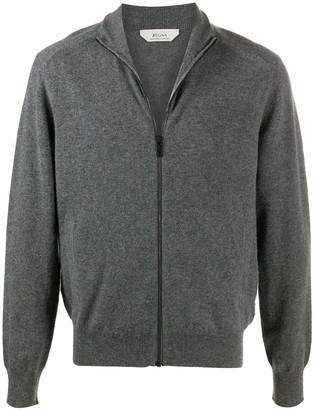 Ermenegildo Zegna Knitted Zip-Up Cardigan