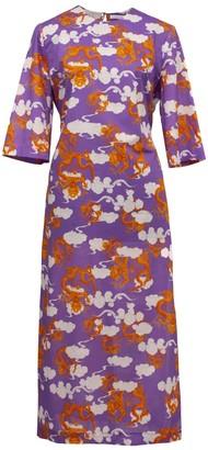 Lake Studio Printed Cotton Midi Dress