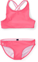 Ralph Lauren 2-6X Cross-Back Two-Piece Swimsuit