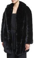 McQ by Alexander McQueen Faux-Fur Coat, Black