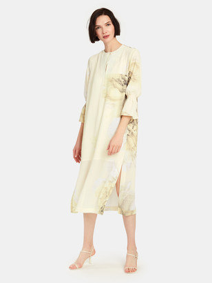 Baum und Pferdgarten Adessa Graphic Flower Midi Shirt Dress