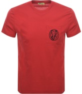 Versace Pocket T Shirt Red