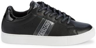 Roberto Cavalli Sport Leather Logo Sneakers