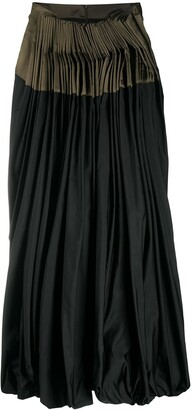 Gianfranco Ferré Pre-Owned Front-Pleated Midi Skirt