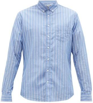 Schnaydermans Schnayderman's - Striped Cotton-voile Shirt - Mens - Blue Multi