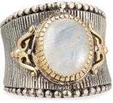 Konstantino Erato Labradorite Doublet Band Ring, Size 7