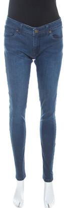 Burberry Indigo Denim Medium Wash Low Rise Skinny Fit Jeans M