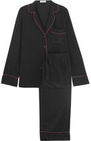 Equipment Avery Washed-silk Pajama Set - Black