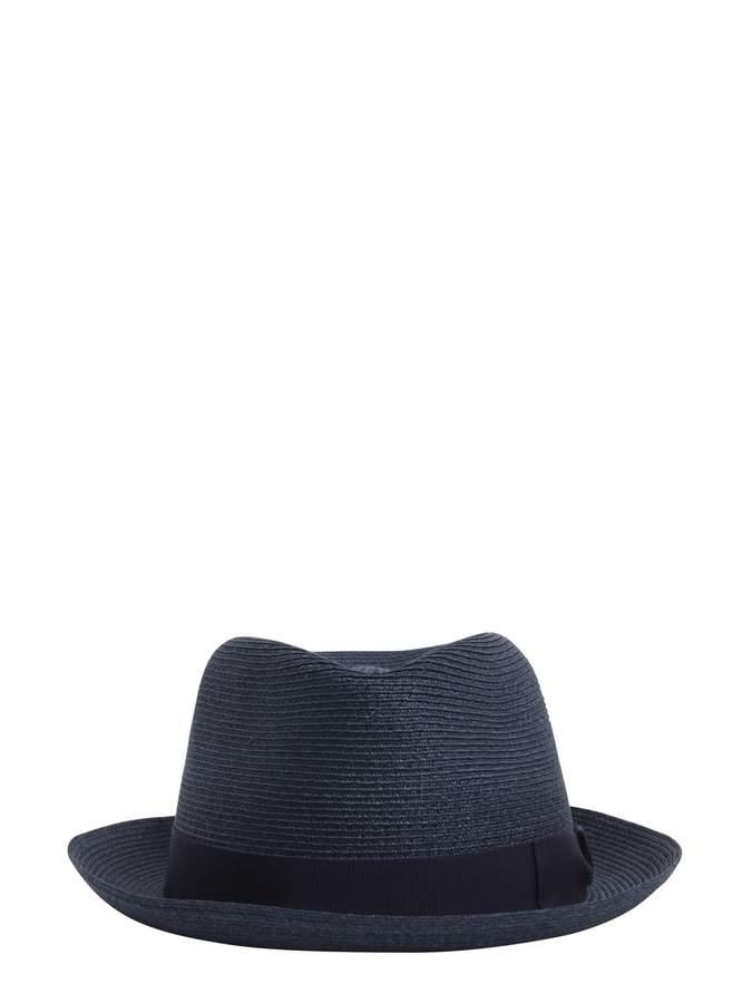 Borsalino Short Brim Straw Panama Hat