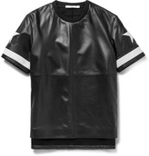 Givenchy Columbian-Fit Appliquéd Leather and Ponte T-Shirt