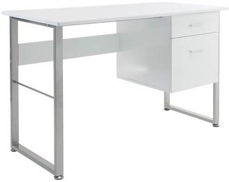 Alphason Cabrini White Storage Desk
