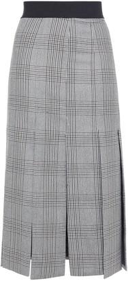 Maje Checked Jacquard Midi Skirt