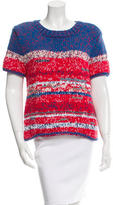 Tory Burch Knit Short Sleeve Sweater