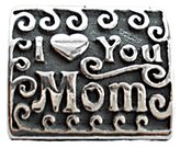 Zable Sterling Silver I Heart You Mom Bead