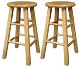 Winsome Wood 24-Inch Square Leg Barstool with Finish, Set of 2