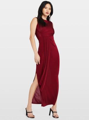 Miss Selfridge Burgundy Grecian Maxi Dress
