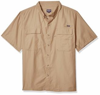 Smith's Workwear Men's Short Sleeve Button Down Fishing Shirt