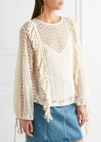 See by Chloe Fringe Sweater Off White