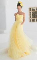 Tarik Ediz Sweetheart Gown with Sheer Halter Overlay 92555