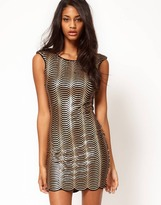 Lipsy Scalloped Sequin Body-Conscious Dress