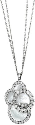 Chopard White Gold and Diamond Mother-Of-Pearl Happy Dreams Pendant