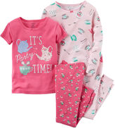 Carter's Girl Tea Party 4-pc. Long-Sleeve Pajama Set - Baby Girls newborn-24m