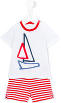 Il Gufo sailboat short set - kids - Cotton/Spandex/Elastane - 6 mth