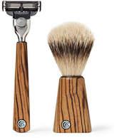 Czech & Speake Zebrano Wood Shaving Set - Brown